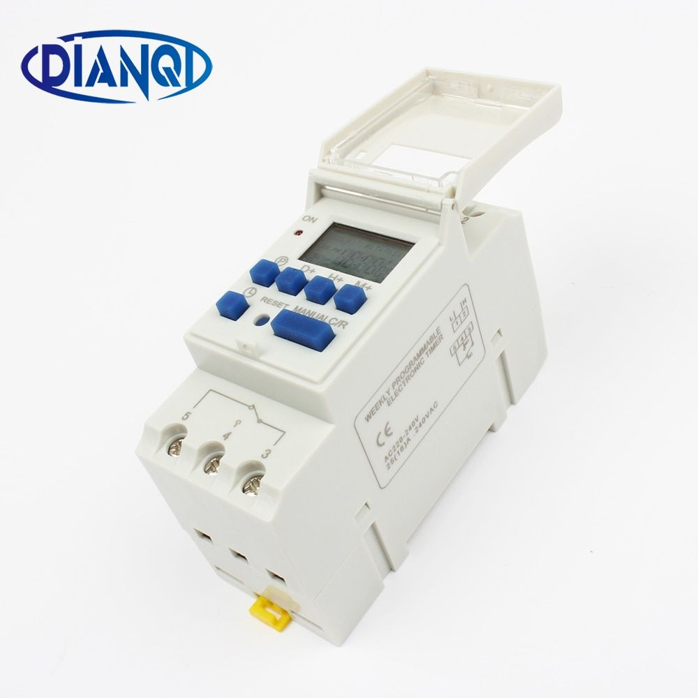 Electronic Weekly 7 Days Programmable Digital TIMER SWITCH Relay Control 220V 230V 6A 10A 16A 20A 25A 30A Din Rail tp8a16 DIANQI