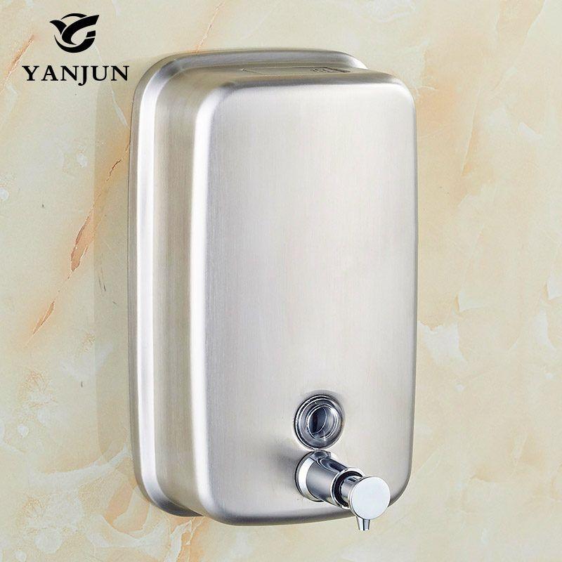 Yanjun настенный ручной насос Мыло диспенсер Санузел S. Сталь 304 руководство жидкий гель для душа yj-2613