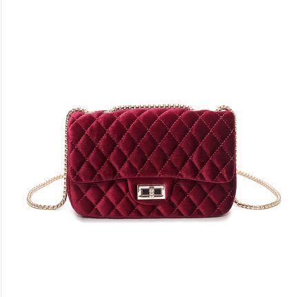 2017 Women's Velvet Handbag Messenger Bag lady Contracted Cross body Shoulder Bags Small Mini Casual Satchel Purses