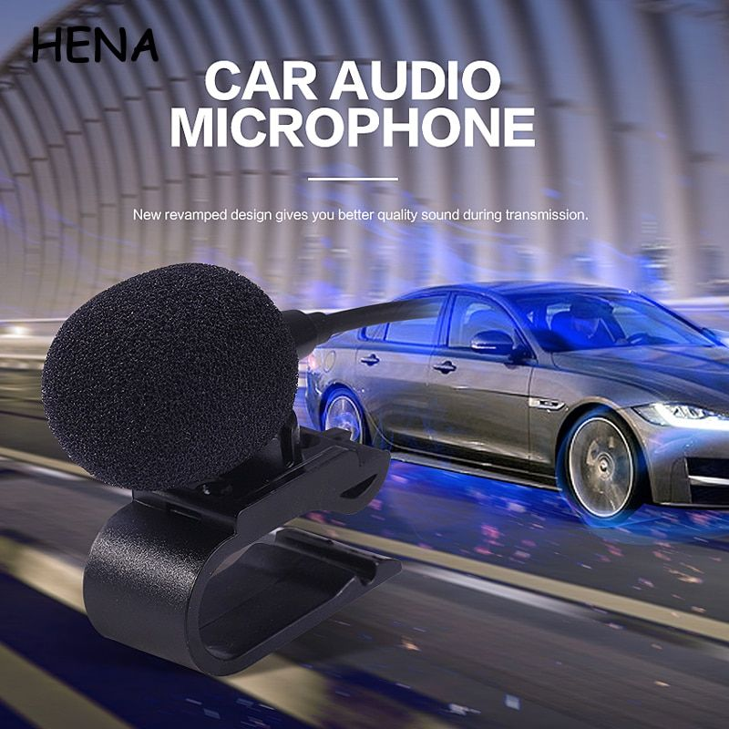 HENA 7PCS/LOT Professionals Car Audio Microphone 3.5mm Jack Plug Mic Stereo Mini Wired External Microphone for Auto DVD Radio