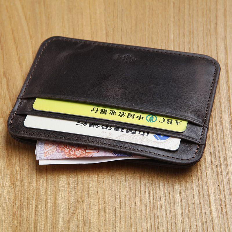 LAN мужской кожаный Кредитная карта чехол untra тонкий портмоне визитница оптовая продажа Slim Card Case водительские права дело