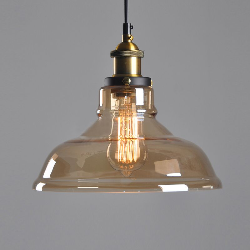 E27 American Country Retro Vintage Glass Lampshade Pendant Light Glass Lamp for Bar Clothes Shop Pendant Lamp lustres Fixtures