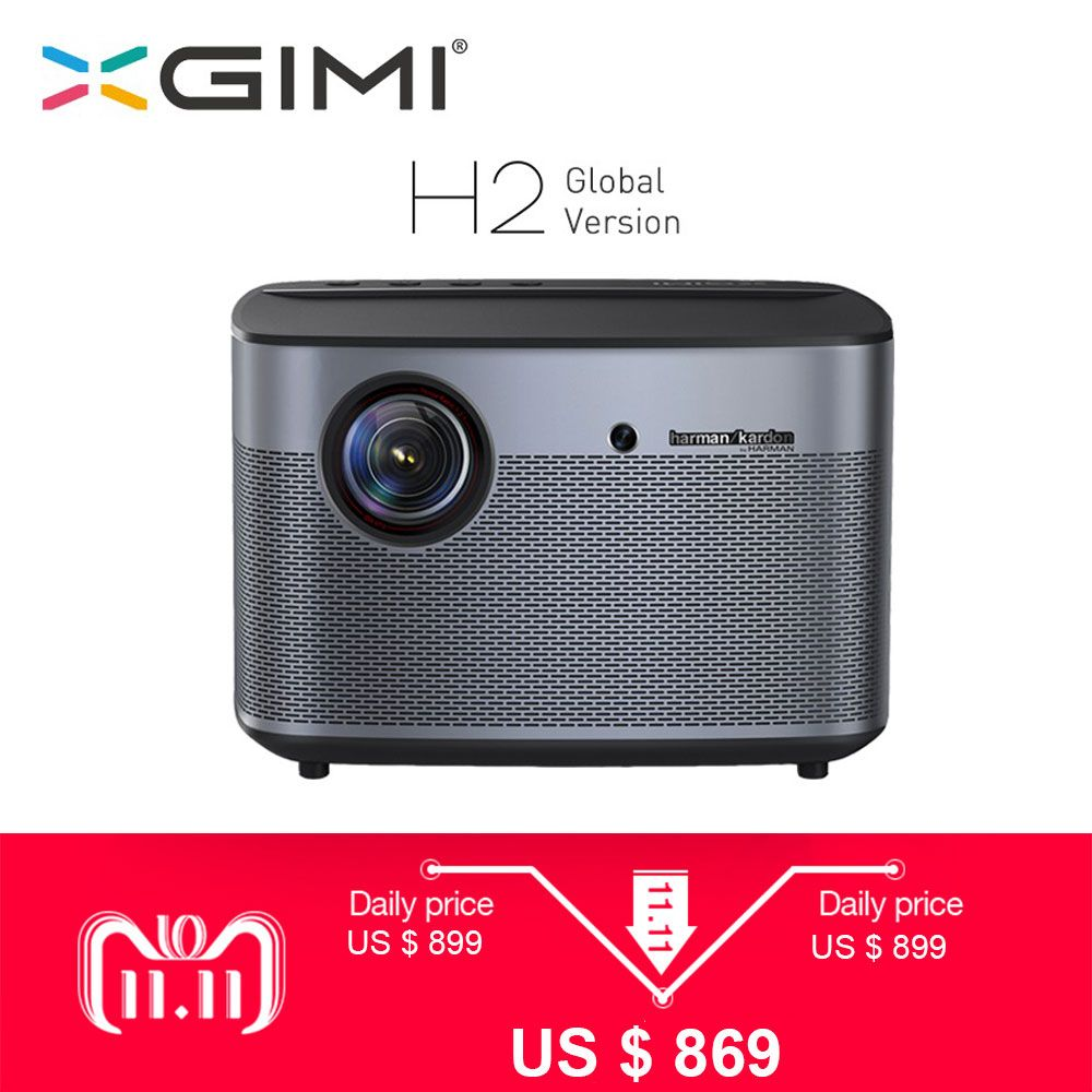 XGIMI H2 Projector 1080P 1350 Ansi Full HD 3D 4K Projector 2GB/16GB Android Bluetooth Airplay Home Theater Proyector