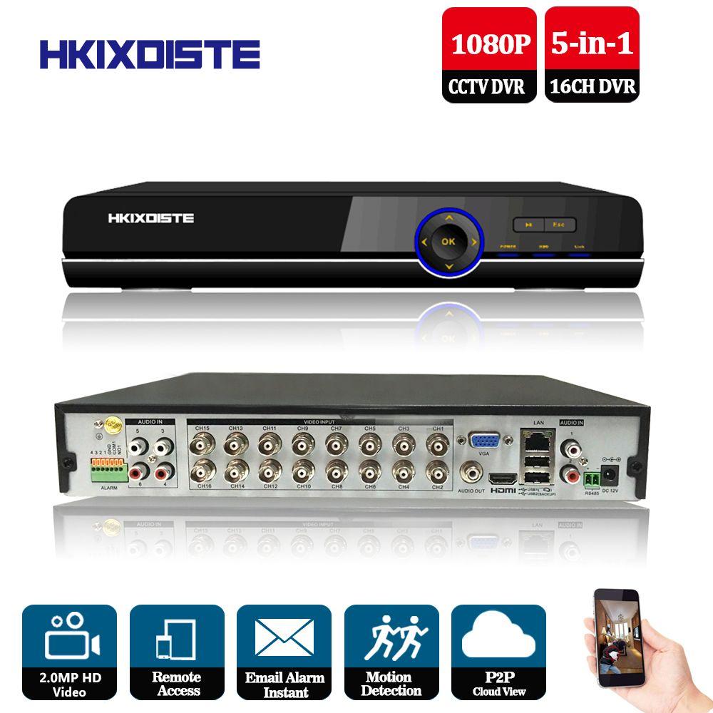 CCTV DVR 16Ch Digital Video Recorder 16 Kanal H264 Home Security DVR 1080 p HDMI Ausgang 16CH AHD 2.0mp hybrid 5 in 1 HD DVR