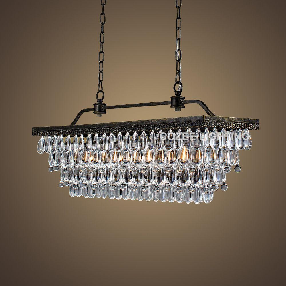 Rectangular vendimia Candelabros Iluminación LED moderna araña de cristal de baja luz para el hogar hotel boda centros de mesa Decoración