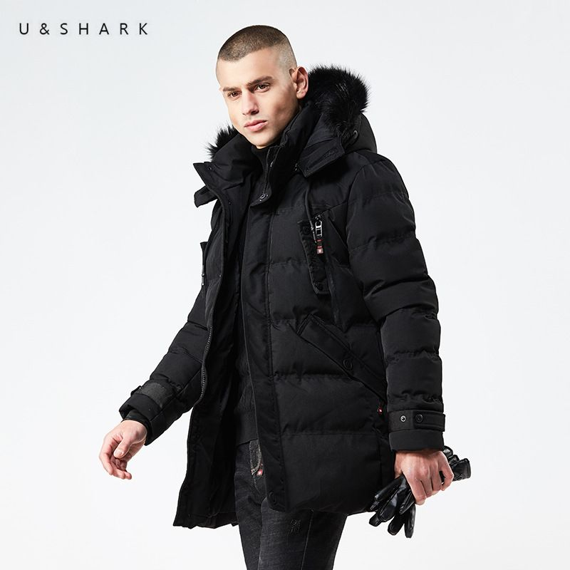 U&SHARK 2018 Winter Parkas Mens Jackets Casual Hooded Coats Men Outerwear High Quality Thickening Hat Jacket Male Brand Clothing