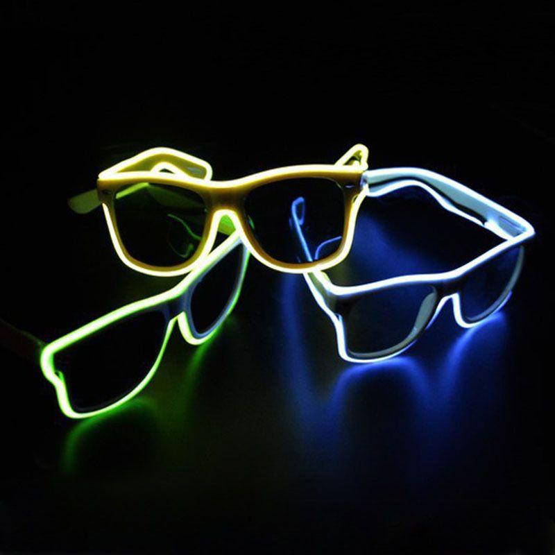 TGETH Smart Télécommande EL Fil Néon De Mode LED S'allume Shutter En Forme Glow Rave Costume Party DJ Lumineux