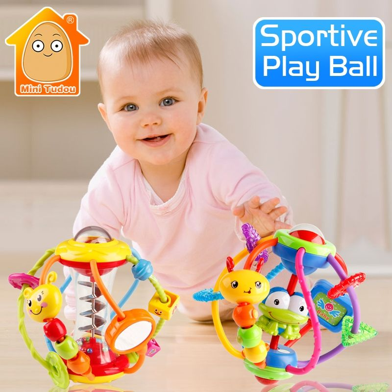 Baby Rattle Activity <font><b>Ball</b></font> Rattles Educational Toys For Babies Grasping <font><b>Ball</b></font> Puzzle Playgro Baby Toys 0-12 Months climb Learning