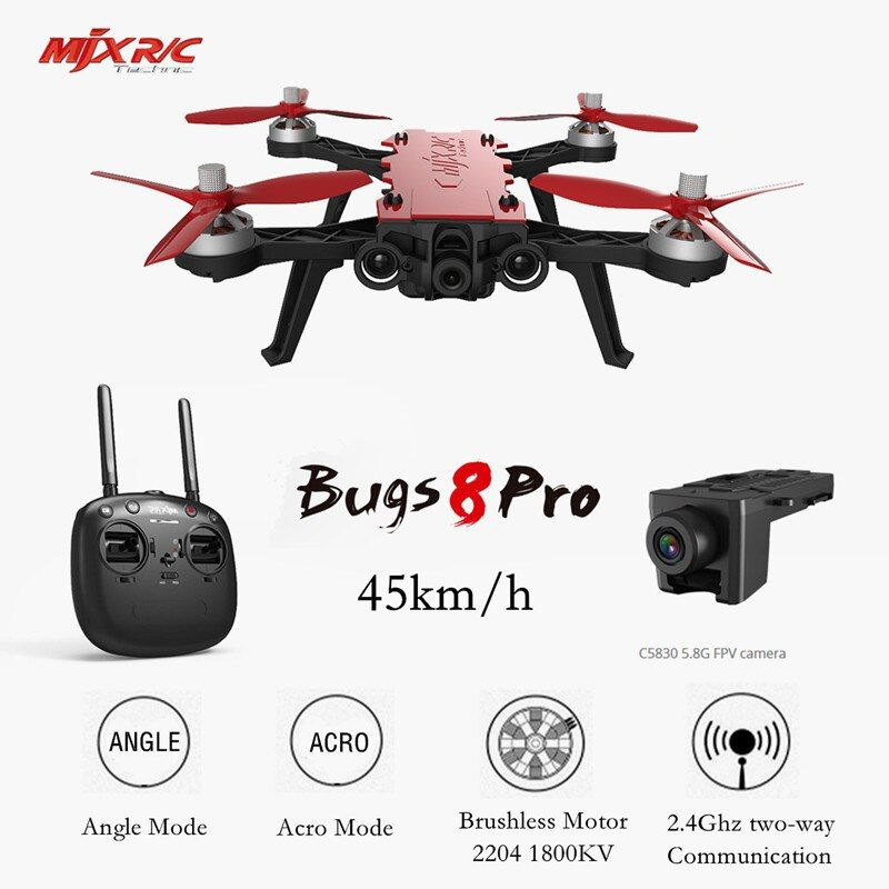 MJX B8 Pro Bugs 8 Pro RC Drone Quadcopter Brushless With 2204 1800KV Motor 3D Flips Remote Control Drone Toy Aircraft VS Bugs3 6