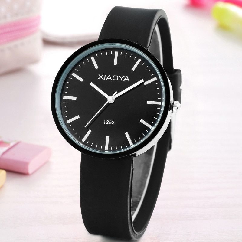 XIAOYA new fashion Classic Geneva watches women Silicone quartz Watch Jelly women dress watch relogio feminino free shipping
