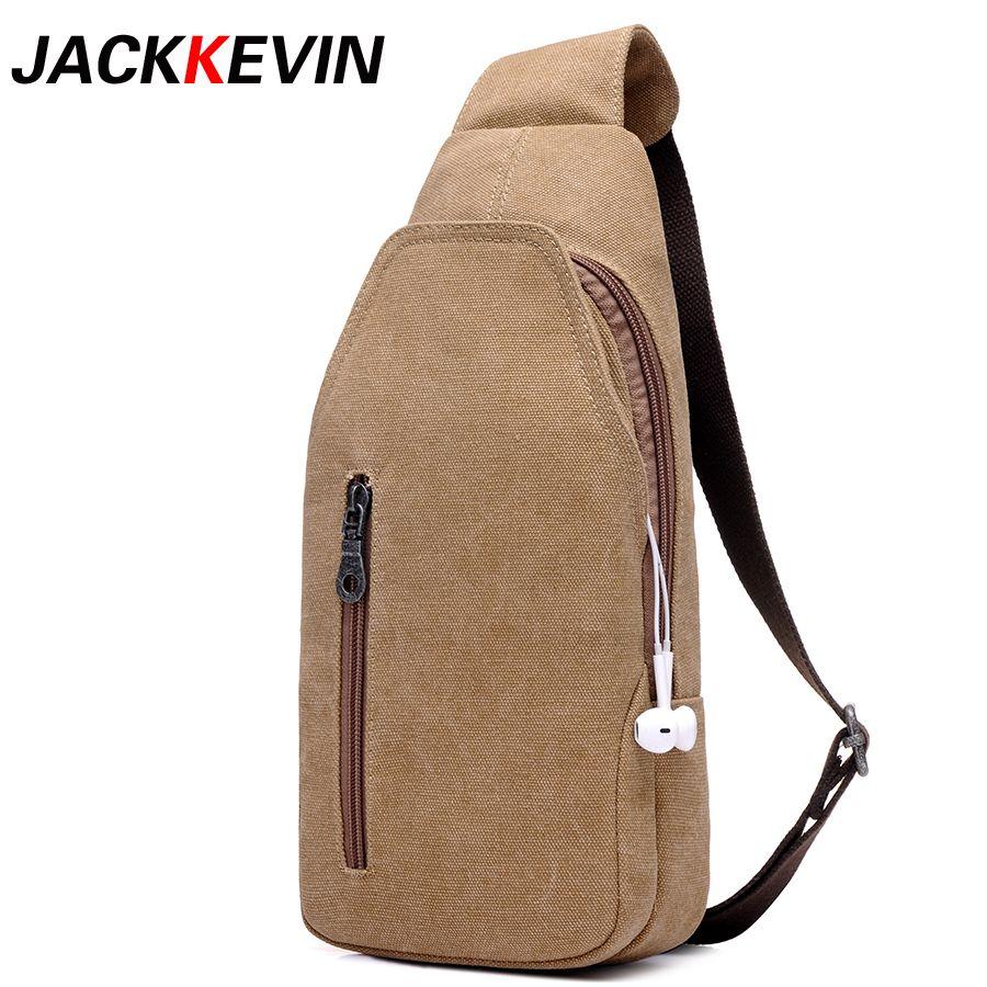 JACKKEVIN Male Package!2018 New Fashion Man Shoulder Bag Men Canvas Messenger Bags Casual Retro Military Bag FB-6039