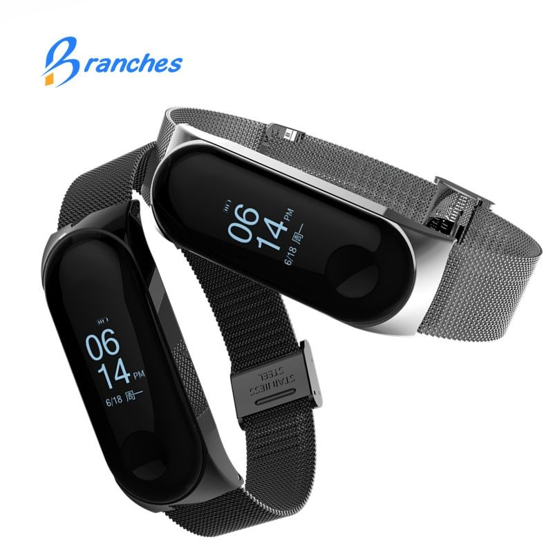 Mi band 3 Strap Metal for Xiaomi Mi Band 3 Bracelet Screwless Xiaomi Mi Band 3 Bracelet Correa Xiomi MiBand 3 Wrist Band Steel