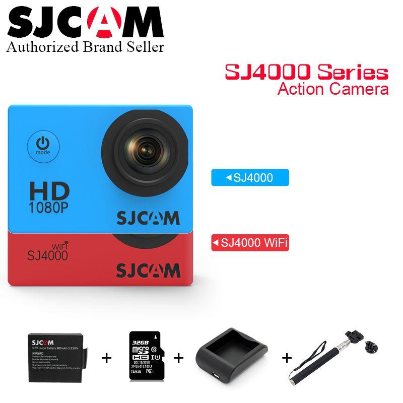 Hot~ Original Sjcam 2'' Screen Sj4000 SJ4000 WIFI SJ4000 Plus WiFi 30M Waterproof Diving Mini Sports Action Camera Sj Cam DVR