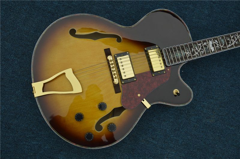 Menschen Heiße bild echten schuss Kostenloser Versand jazz e-gitarre jazz elektrische hohlen e-gitarre