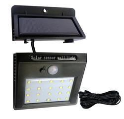 Kolam 20 LED Split Solar Powered Lampu PIR MOTION SENSOR 3 Mode Tahan Air Terpisah Taman Jalan Malam Lampu Dinding cahaya
