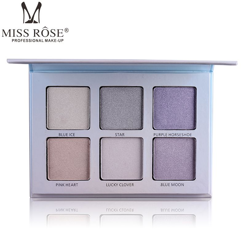 MISS ROSE New Makeup Oil-control Glow Pressed Highlight Powder Face Brighten Bronzer Highlighter Contour Powder Palette