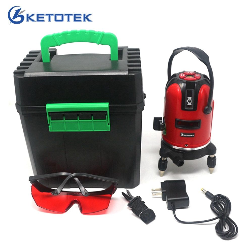 Laser Level 5 Lines 6 Points 360 Rotary Self Leveling 635nm Red Horizontal <font><b>Vertical</b></font> Cross line Lazer Level Tools for Outdoor