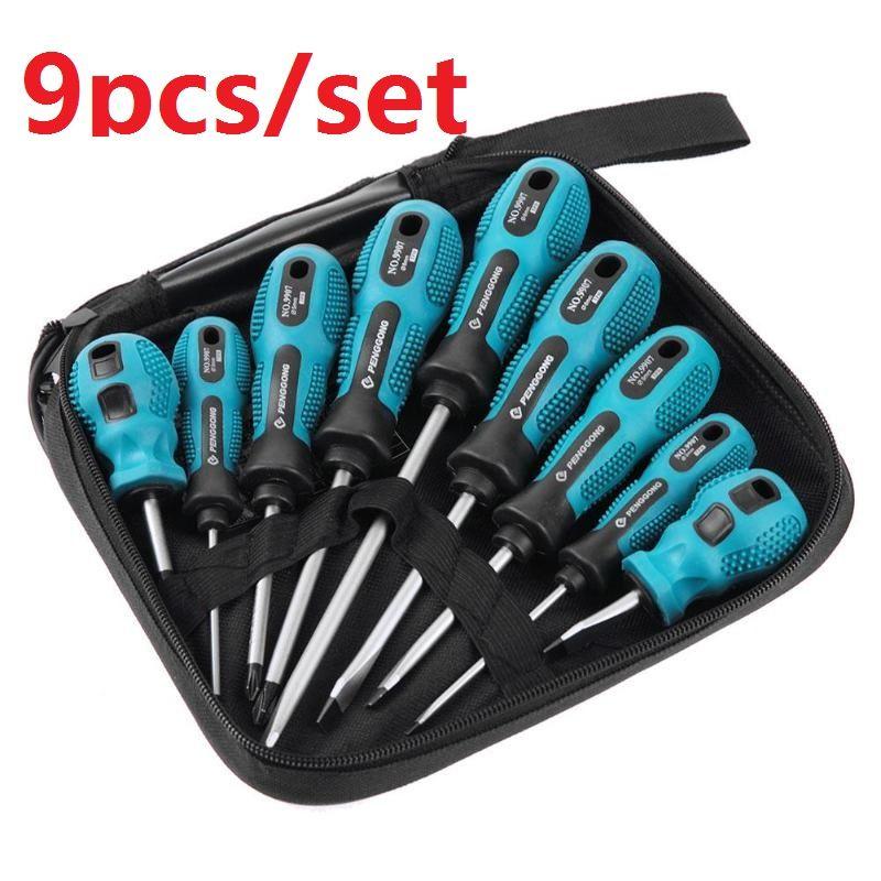 4/9 pièces/ensemble jeu de tournevis 9 en 1 outils multi-bits réparation Torx tournevis Kit maison utile Multi main outil livraison directe