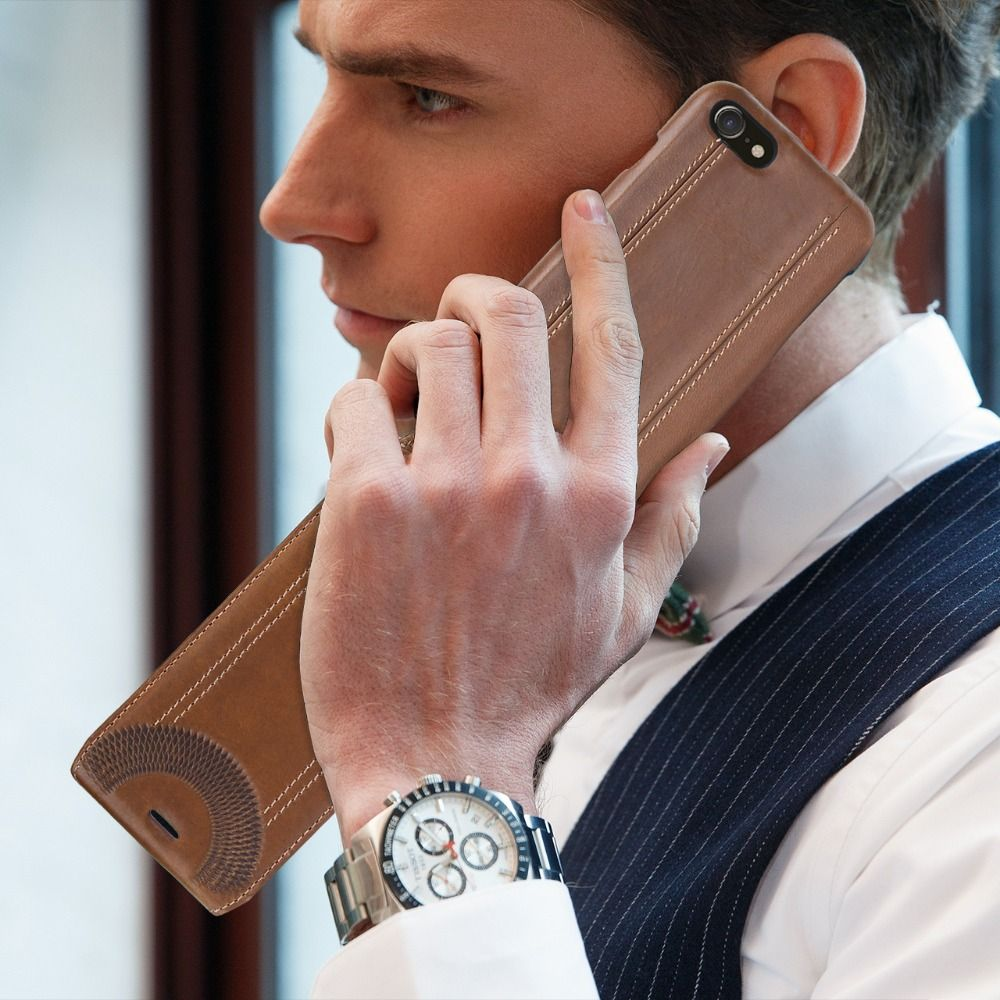 Original Pierre Cardin Genuine Leather Case for iPhone 7 Luxury Brand Hard Flip Cover 7 Plus Case Women/Men Slim Case Capa