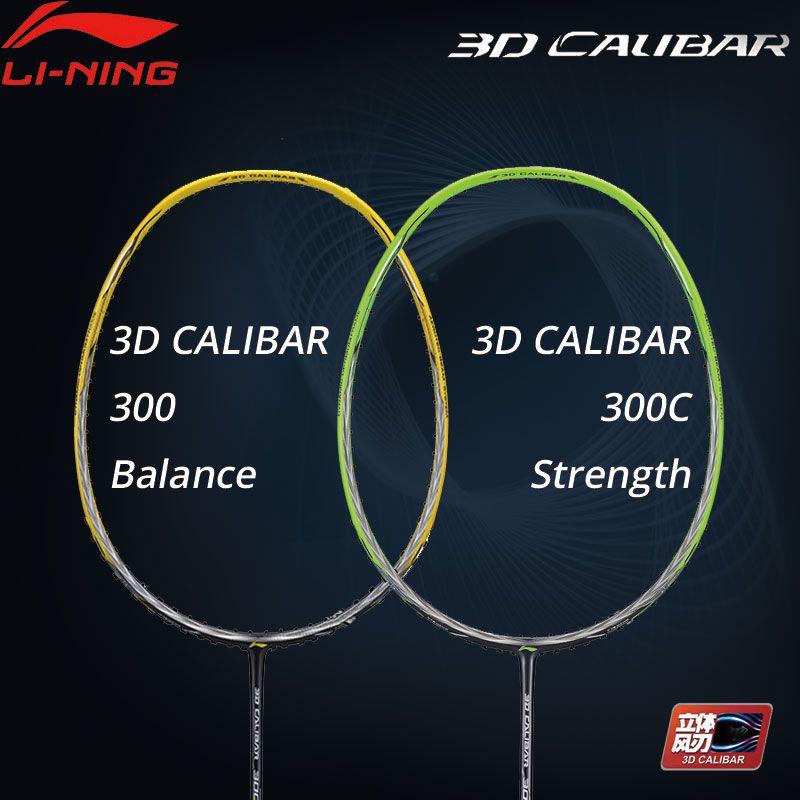 Li-Ning 3D CALIBAR 300/300C Badminton Schläger Balance/Festigkeit Keine String Futter Sport Einzelnen Schläger AYPM404 /AYPP014 ZYF308