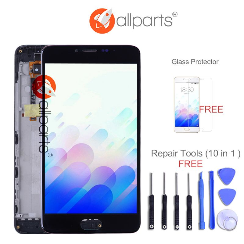 ALLPARTS New 5.5'' LCD For MEIZU M3 NOTE LCD Display Digitizer Touch Screen M681H L681H Replacement Parts