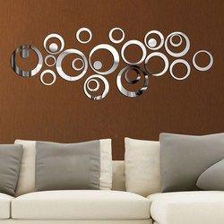DIY Lingkaran Cermin Dinding Stiker Vinil Seni Mural Stiker Dinding Kamar Dekorasi Sofa TV Latar Belakang Dinding Dekorasi Dropshipping