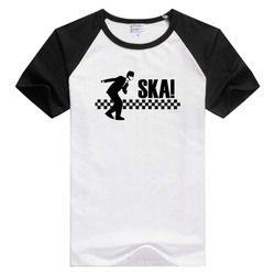 Menari Boy Kasar Ska T Shirt Yang Spesial Madness 2 Tone Ska Dammers GA460 Suggs Khas sederhana Kemeja Tee T-shirt pendek hitam