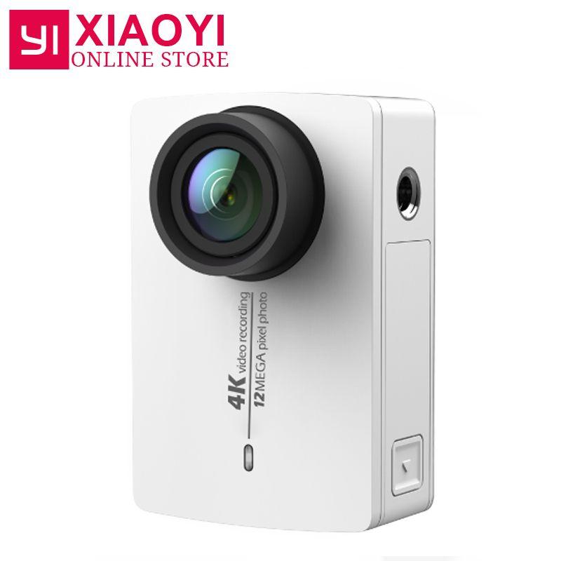Original Neue Ankunft YI 4 Karat Action-sport-kamera Xiaoyi 2 II 2,19 Retina Bildschirm Ambarella A9SE75 12MP 155 Breite 1400 mAh für Xiaomi