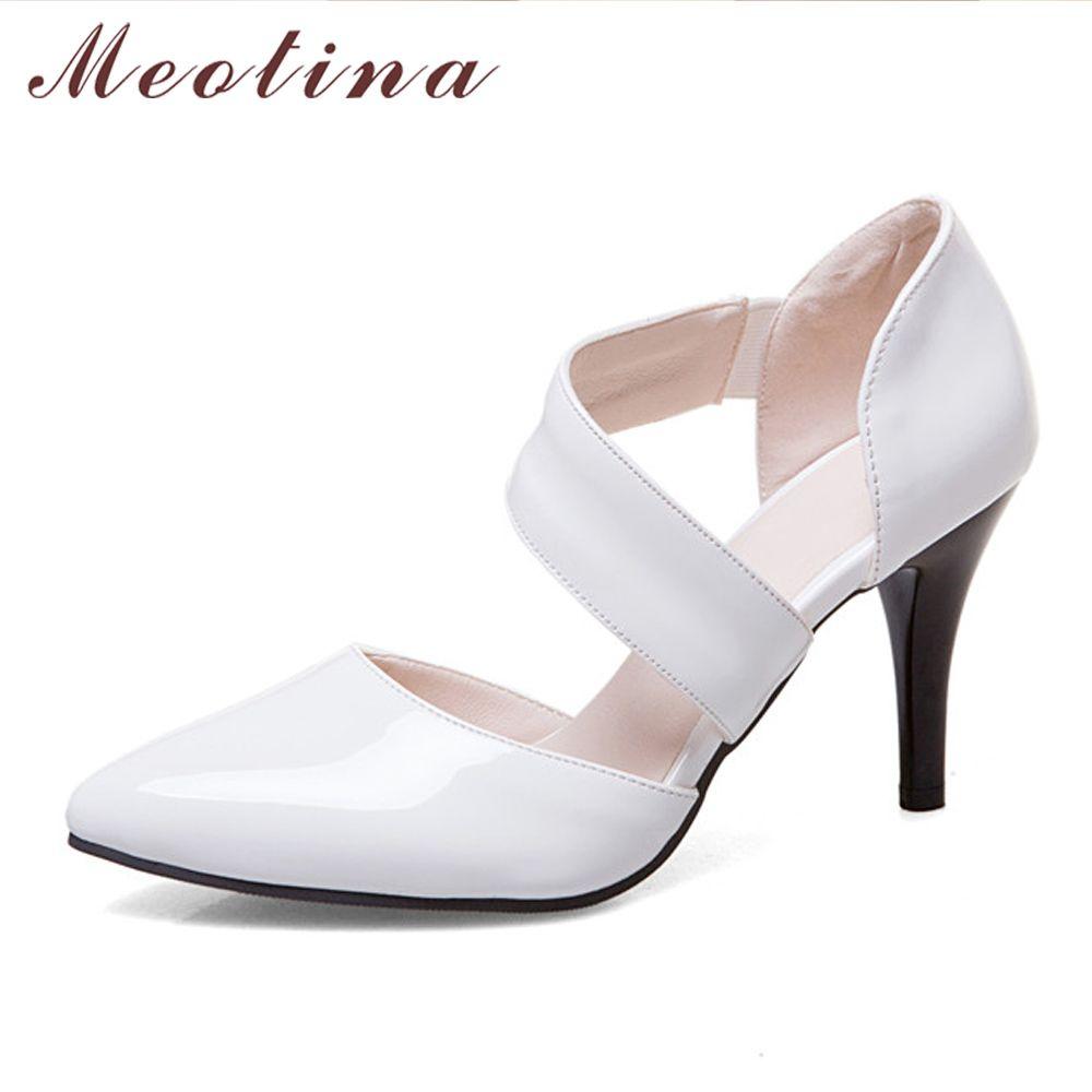 Meotina Femmes Chaussures Pompes Haute Talons Bout Pointu Mince Talons Sexy Party Chaussures De Mariage Blanc Chaussures De Mariée Rouge Grand taille 11 12