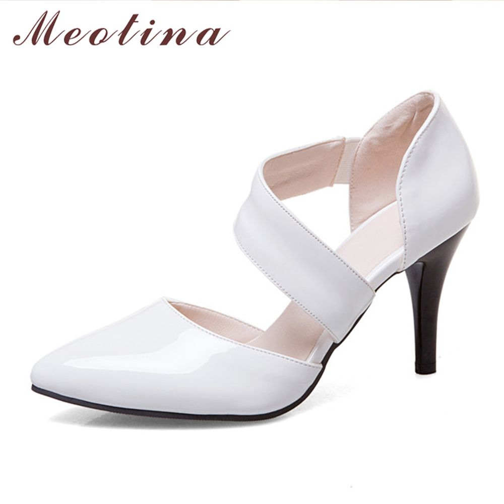 Meotina Femmes Chaussures Pompes Haute Talons Bout Pointu Mince Talons hauts Sexy Party Chaussures De Mariage Blanc Chaussures De Mariée Rouge Grande Taille 11 12