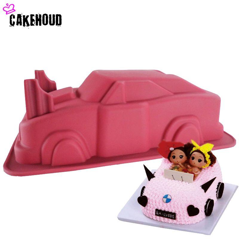 CAKEHOUD voiture forme gâteau moule fête d'anniversaire bricolage Fondant, gelée, bonbons, chocolat savon moule, décoration gâteau cuisson outil