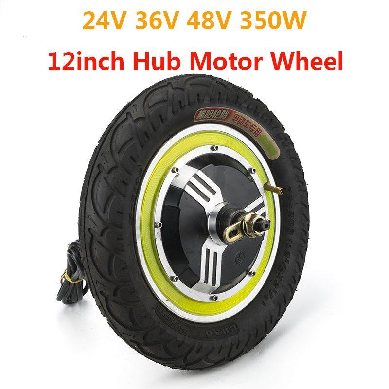 350 watt 24 v 36 v 48 v Bürstenlosen Nicht-Getriebe Hub Motor 12 zoll Hinten Vorne Rad Für elektrische Fahrrad Ebike Roller E-auto Kit Energie Teil