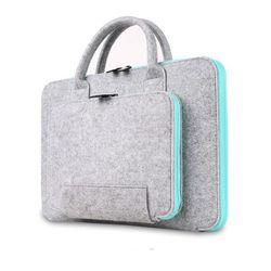 2016 Nuevo Fieltro universal laptop bag bolsa para portátil maletín handlebag bolsa para MacBook Air pro retina hombres mujeres