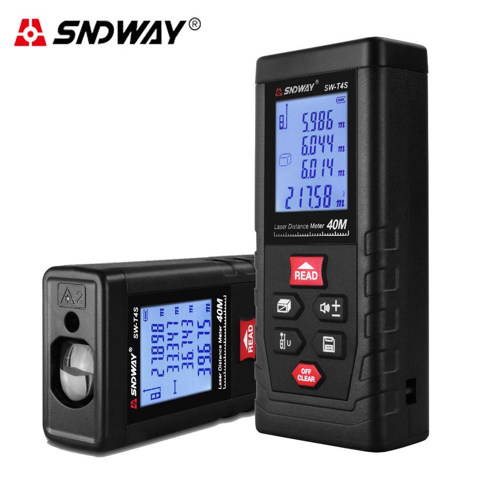 SNDWAY Laser Distance Meter Measure Distance Range 40m T4S T Series Laser Roulette Laser Rangefinder for Hunting Finder ruler
