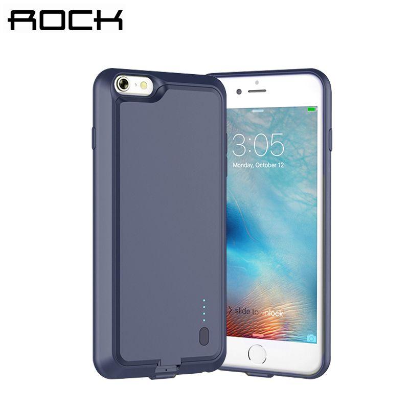 Rock affaire de la banque d'alimentation pour iphone 6/6s/6 plus/6 s plus 2000/2800 mah de sauvegarde d'urgence batterie externe cas chargeur pour iphone 6