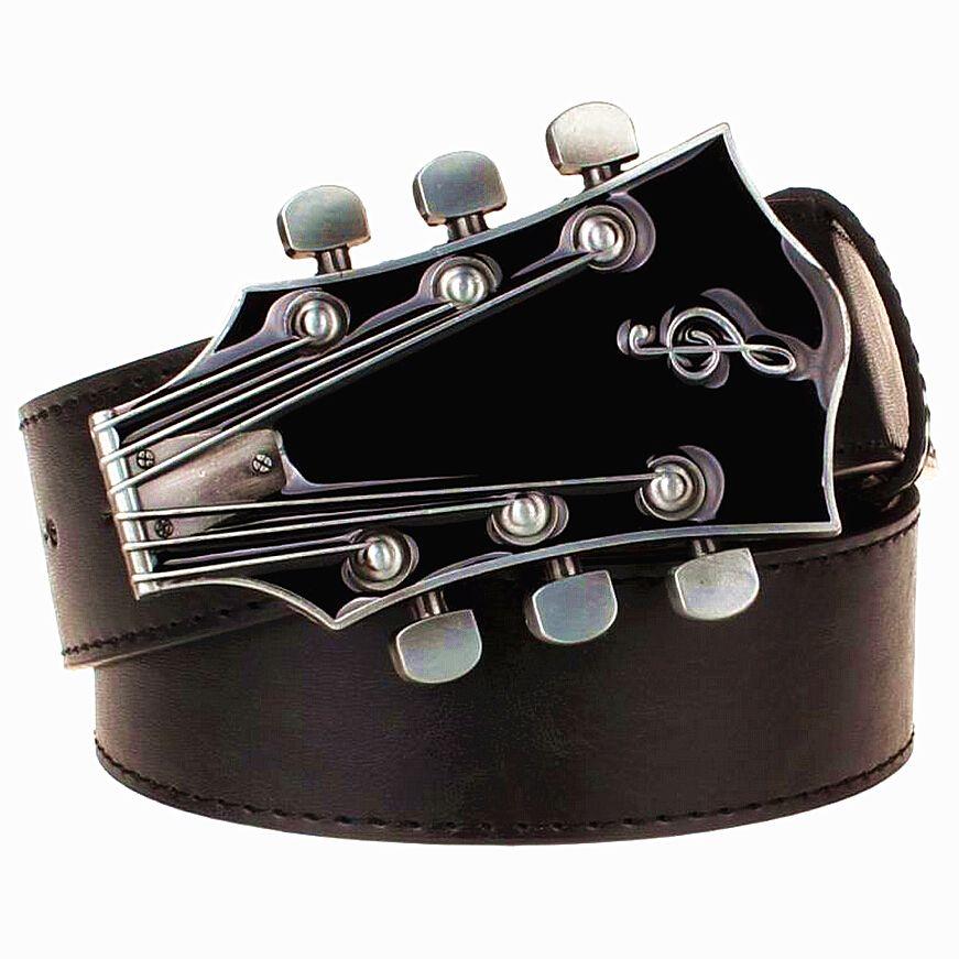 Mode hommes ceinture métal boucle ceintures rétro guitare rue danse accessoires Performance vêtements hip hop ceinture nouvelle ceinture