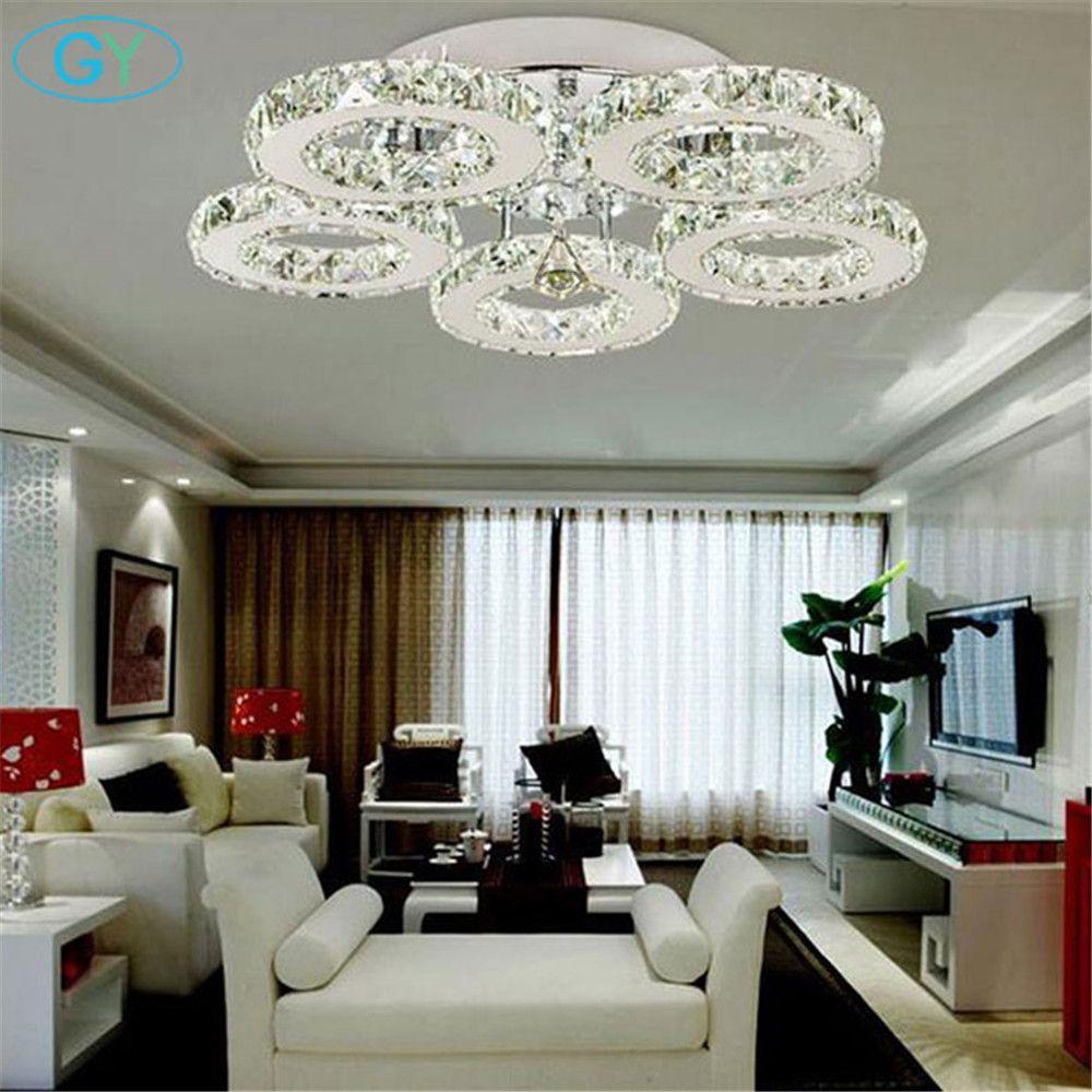 AC100-240V 40 Вт светодиодный Открытый Потолочные светильники кристалл 5 свет люстры современная спальня гостиная столовая светодиодный светиль...