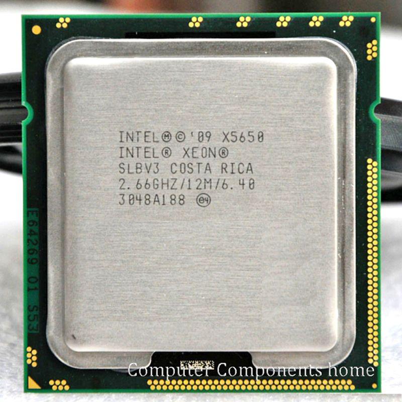 INTEL xeon X5650 INTEL X5650 CPU SLBV3 Processeur 2.66 GHz/LGA1366 SCOKET 1366 serveur CPU P garantie 1 année