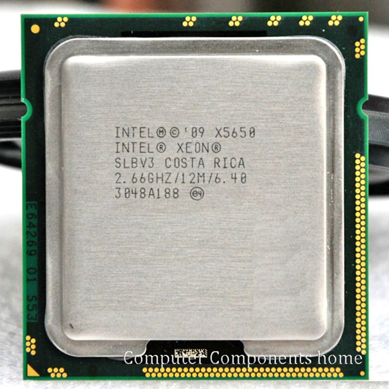 Processeur INTEL xeon X5650 INTEL X5650 CPU SLBV3 2.66 GHz/LGA 1366 serveur CPU P garantie 1 an
