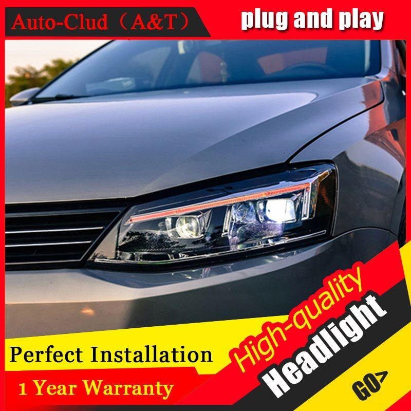Auto Clud Car Styling For VW Jetta headlights 2012-2016 For Jetta head lamp led front Bi-Xenon Lens Double Beam HID KIT