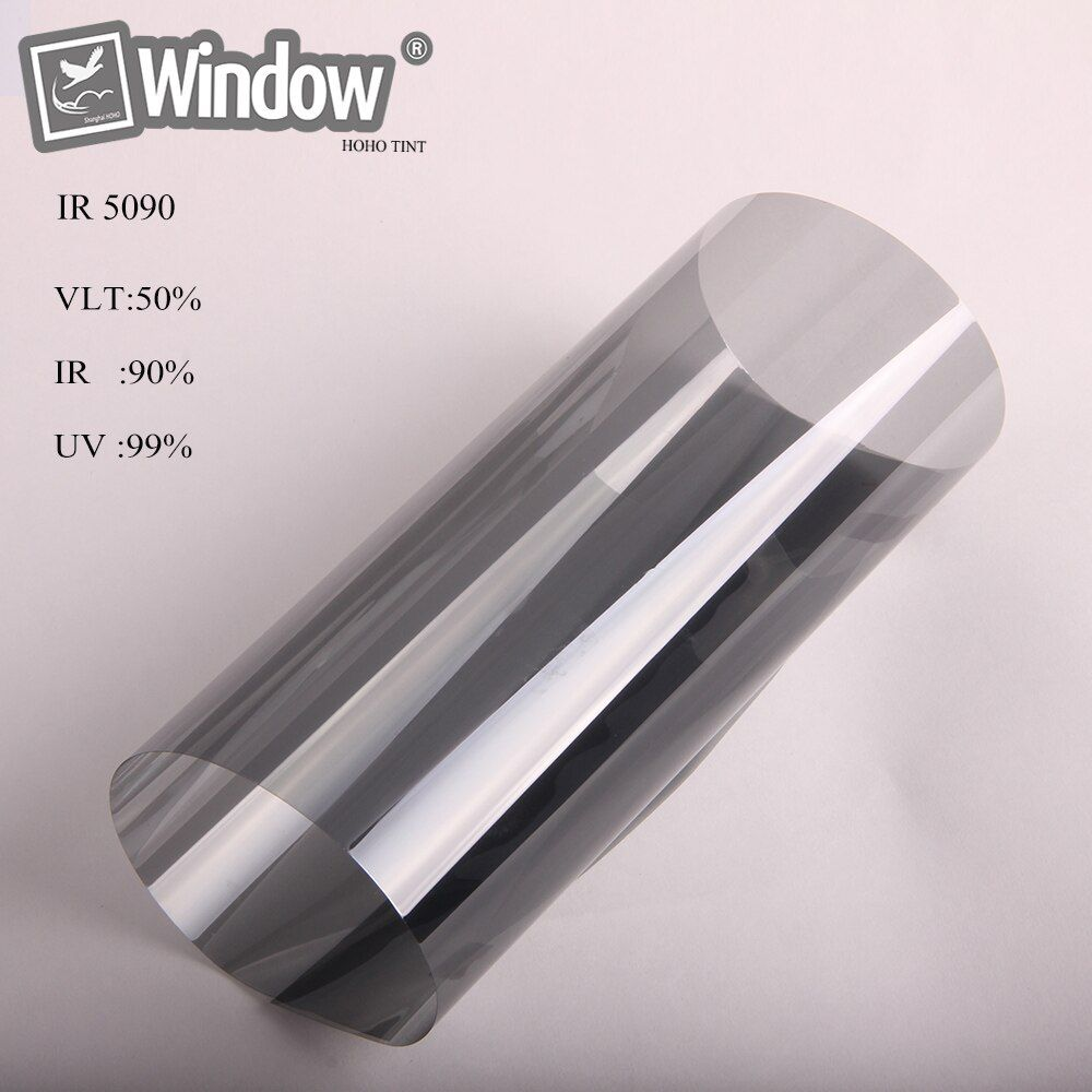 1.52 x 30m Black solar tint nano ceramic film car home window sticker 50% VLT best quality