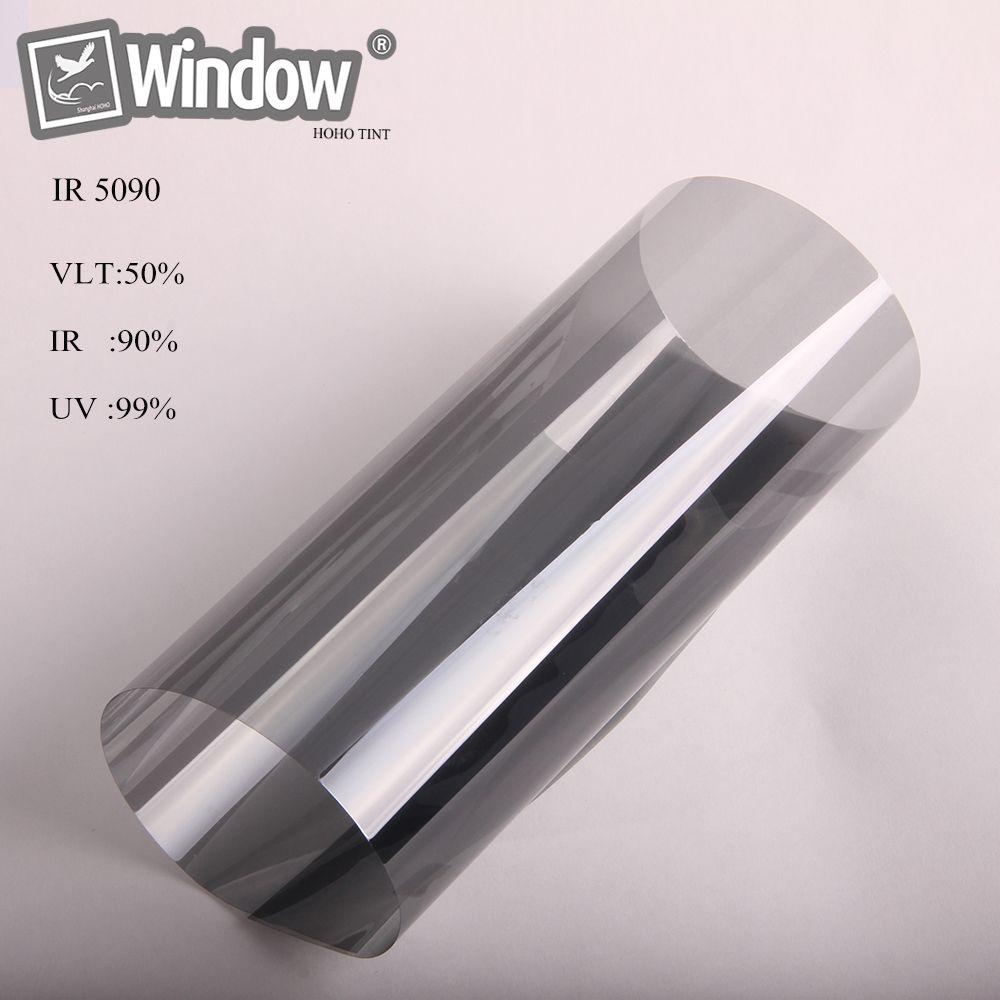 1.52 x 30m Black solar tint nano ceramic film car home window sticker 50% VLT best quality