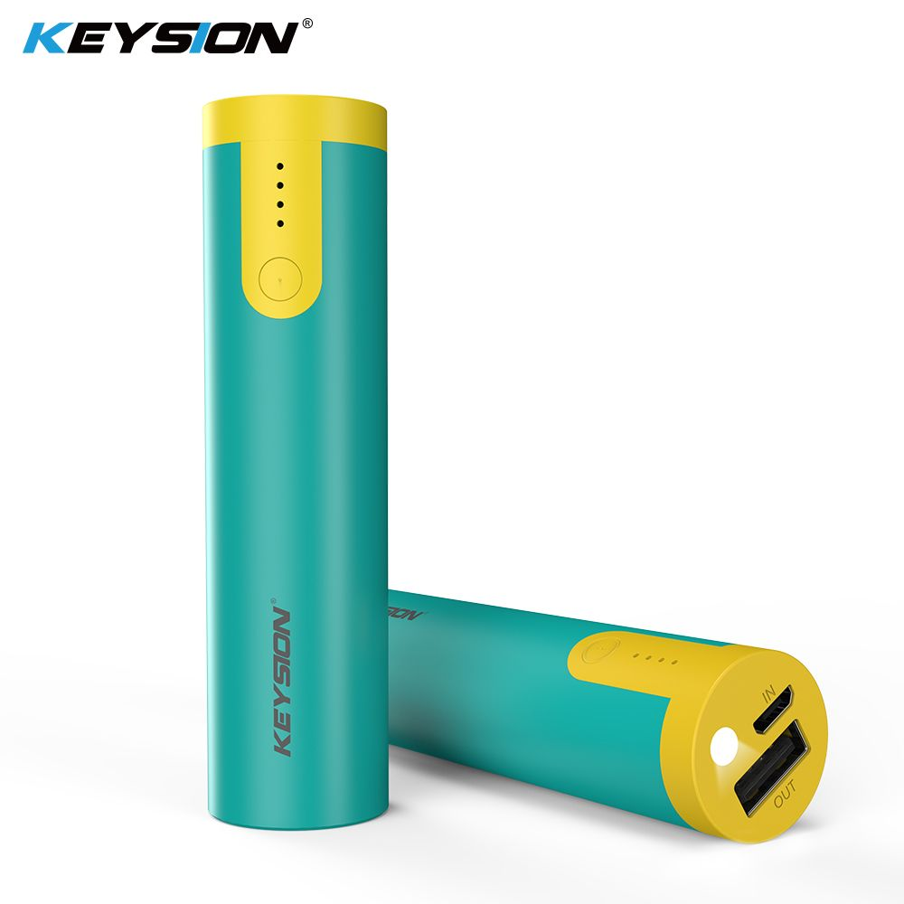 KEYSION 2000/3350 mAh Portable Power Bank Emergency Small Battery Powerbank for iPhone XS Plus 9 8 7 6S With flashlight function
