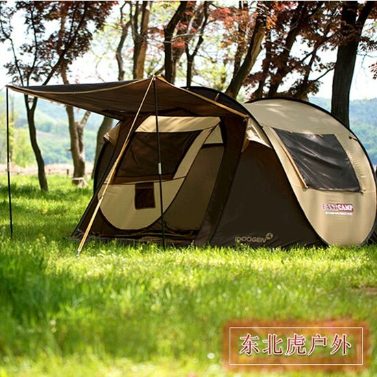 2018 the New South Korean brand automatic tent outdoor camping tents free camping tent 4~5 people pop up outside travel tent