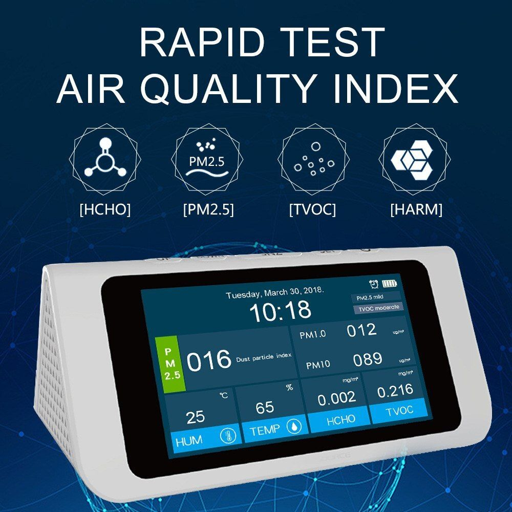 Air Quality Sensor Digital Multi-function PM2.5 HCHO TVOC High-precision Independent Sensors Air Quality Monitor Gas Analyzer