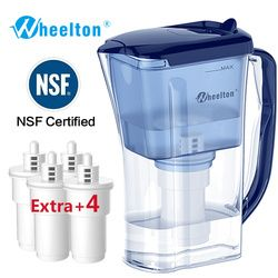 Wheelton Water filter pitcher Purifier BPA free Ion exchang  reduce incrustation scale Extra 4 filters Germany warehouse Freeshi