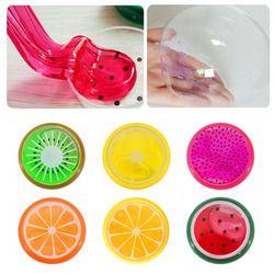 Drôle Creative Argile Outils Cristal Fruits Argile Intelligente À Modeler Boue Jouets Pour Enfants Coffre-Fort Non-toxique polymère Argile Moule 6 Couleurs