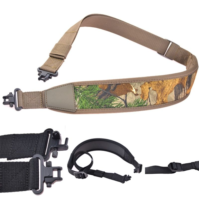 Einstellbare Polymer Rifle Shotgun Sling mit Quick Detach Wirbel