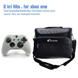 Game Accessories Travel Carrying Bag Shoulder Bag for Xbox One & Slim Console + One Set of Xbox One Console Skin Sticker