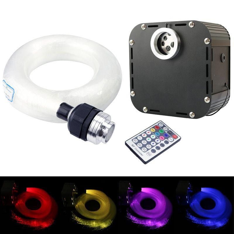 50W RGBW LED Fiber optic star ceiling kit Lights DMX 512 with 800pcs 0.75mm 4m+Crystal&28Key RF remote